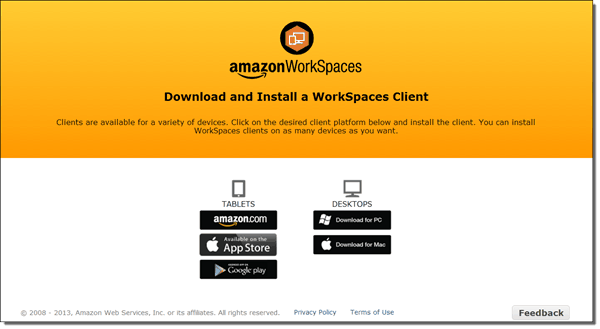 WorkSpaces client