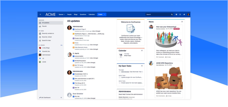Lively theme for Confluence