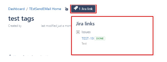 Jira link in Confluence